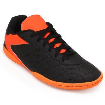 11bb8f266f4 Chuteira Futsal Goleada GO19-0224 Preto-Laranja