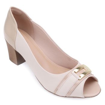 Peep Toe Lady Queen AM18-5504 Off-White-Nude TAM 40 ao 44