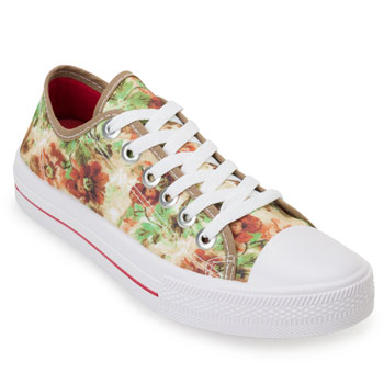 Tênis Floral Mark Shoes MH20-410 Bege