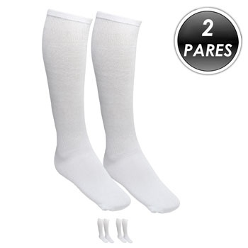 Kit 2 Pares Meião Esportivo Top Fill TF19 Branco