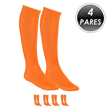 Kit 4 Pares Meião Esportivo Top Fill TF19 Laranja