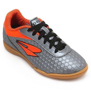 Chuteira Futsal Dray DR18-366CO Chumbo-Laranja d5a9397387752