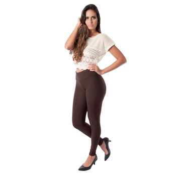 Legging Shop Modas Feminina 11CO Marrom TAM P ao GG